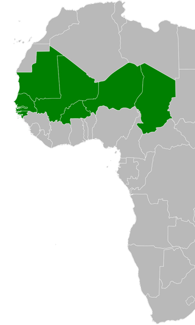 Map of Sahel
